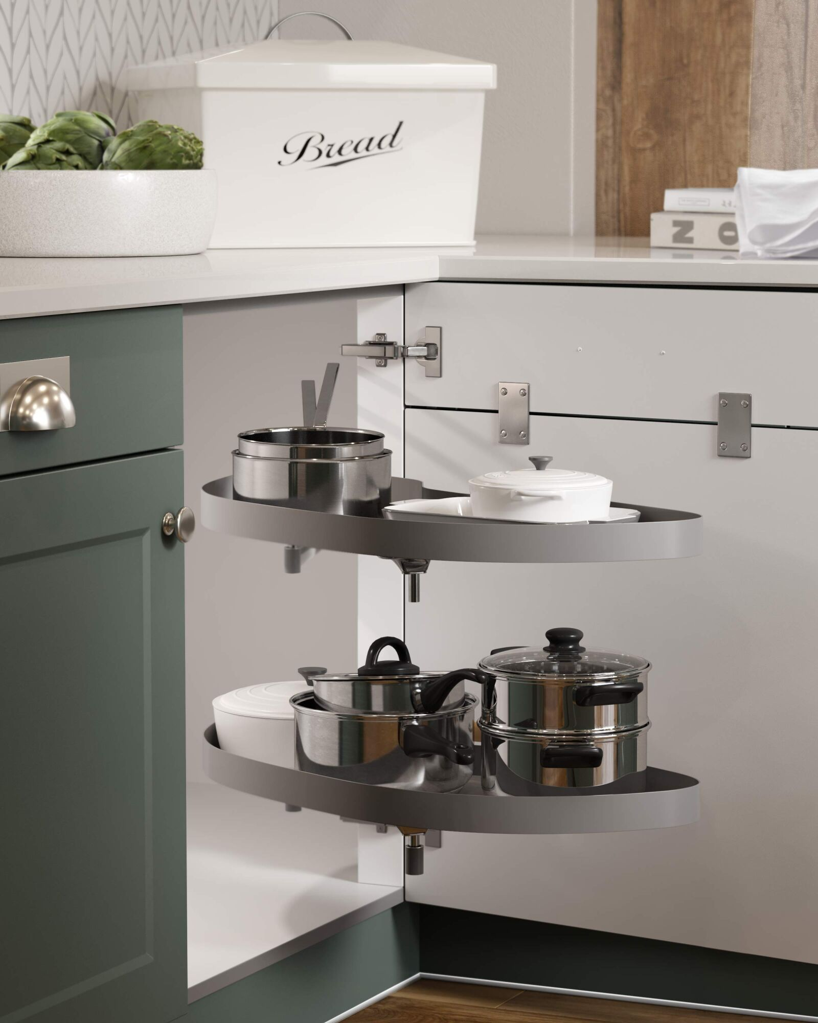 Shaker Chelsea Juratek Kitchen in Forest Green