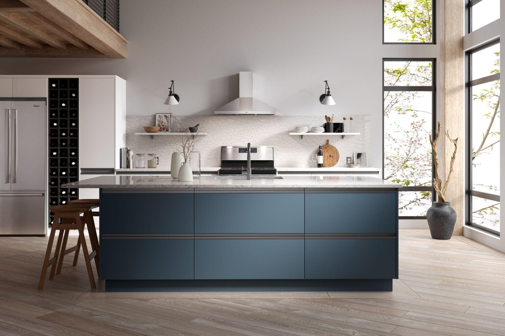 Roma Kitchen in Ascot Blue