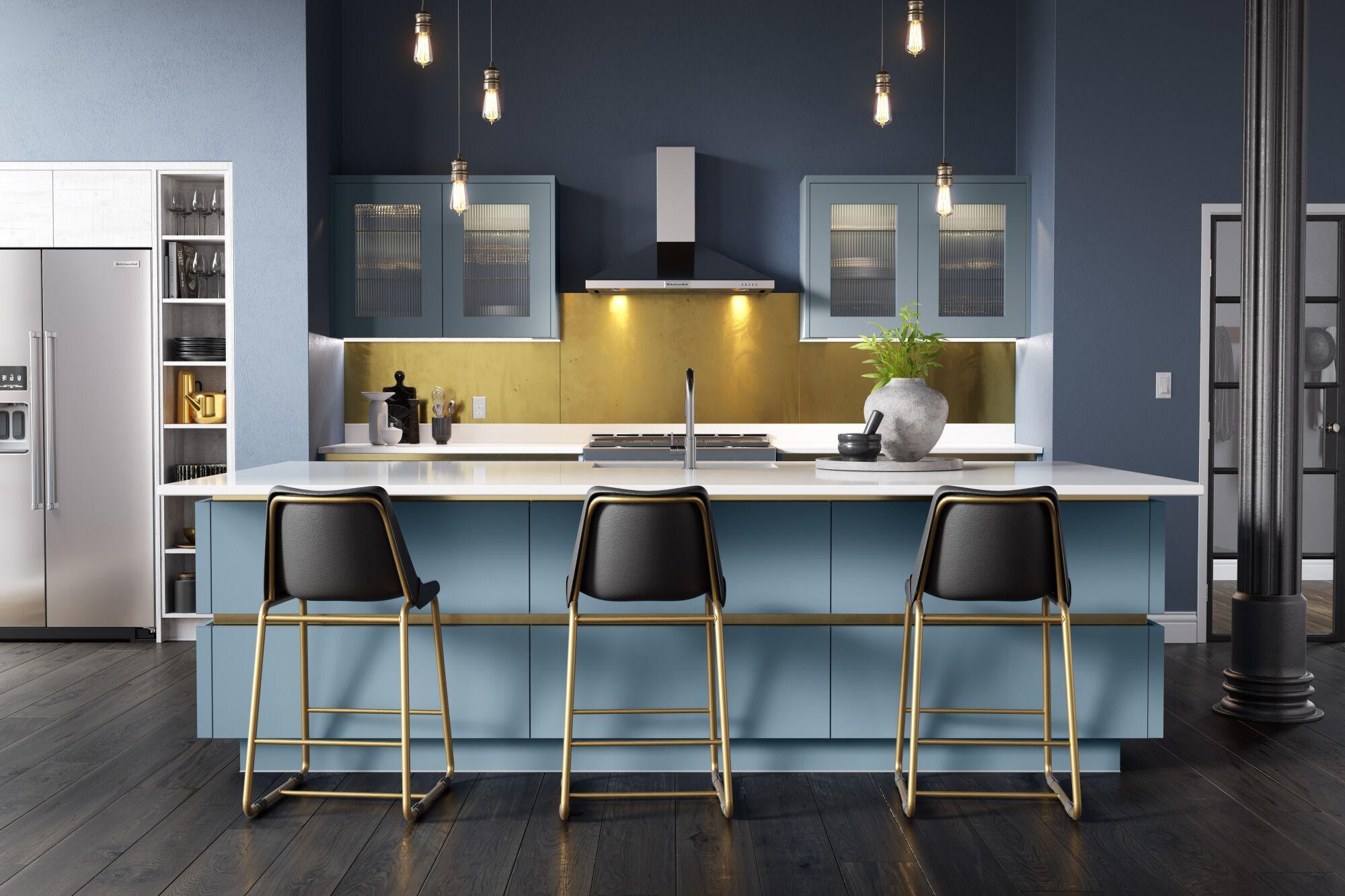 Milano Ultra Kitchen in Smoke Blue
