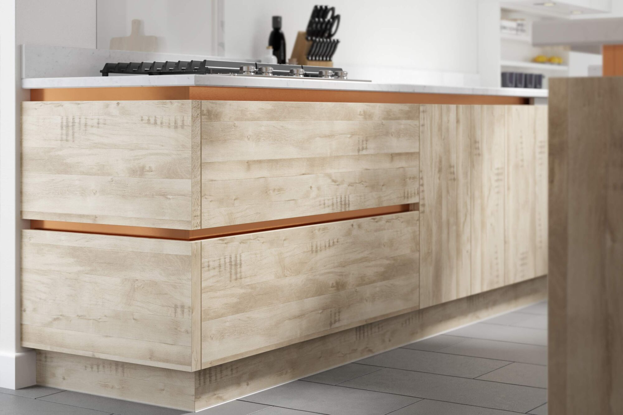 Milano Elements Kitchen in Harvest Oak