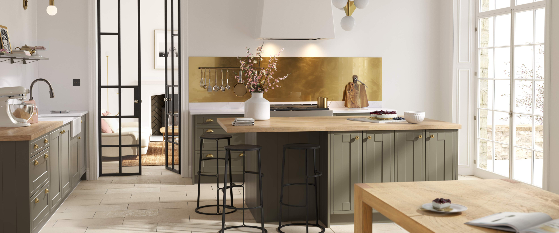 Framed Juratek Kitchen in Olive