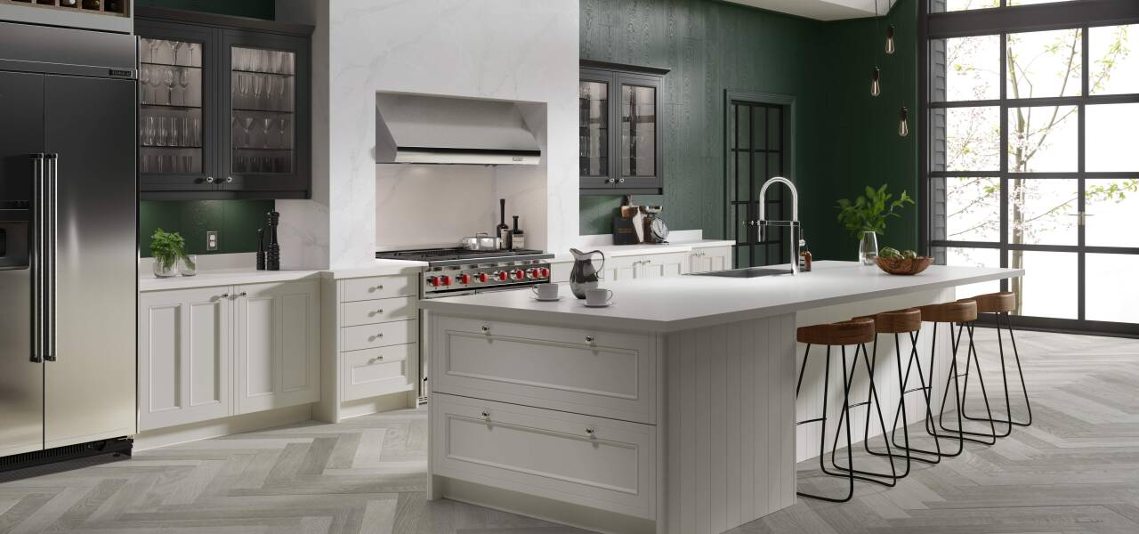 Country Kitchen in Classic Cream and Charcoal Matte
