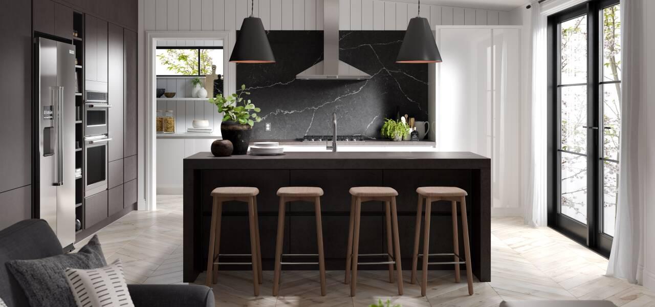 Milano Elements Kitchen in Italian Concrete Matte