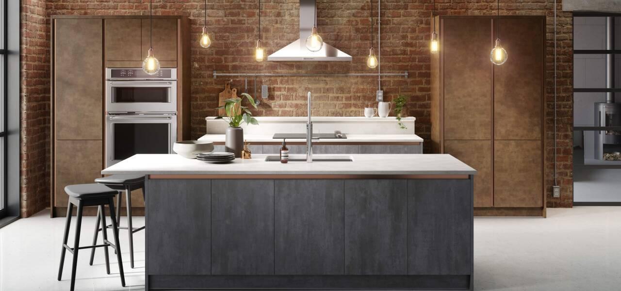 Milano Elements Kitchen in Metallic Slate and Copper Matte