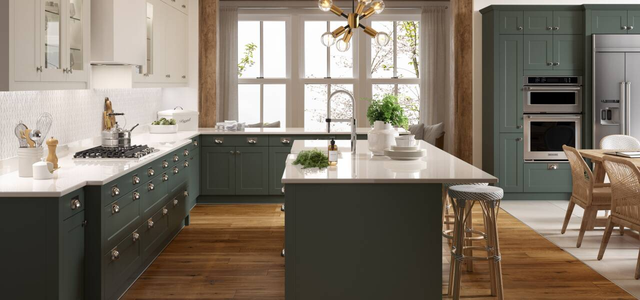 Shaker Chelsea Kitchen in Forest Green Matte