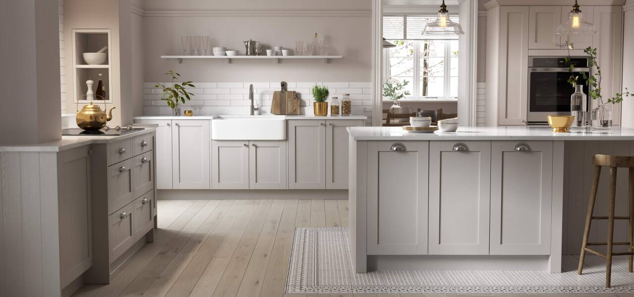 Shaker Forest Kitchen in Shadow and Harvest Matte