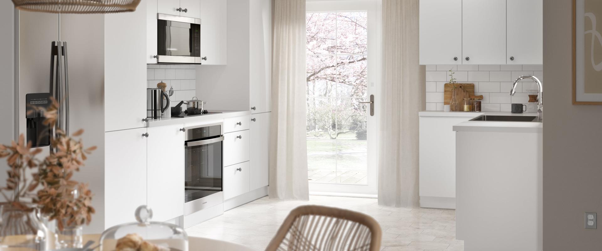 Slab Kitchen in White