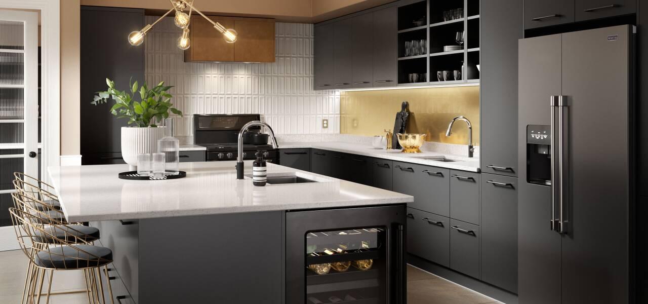 Ultra Kitchen in Nero Matte
