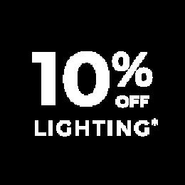10% off lighting*