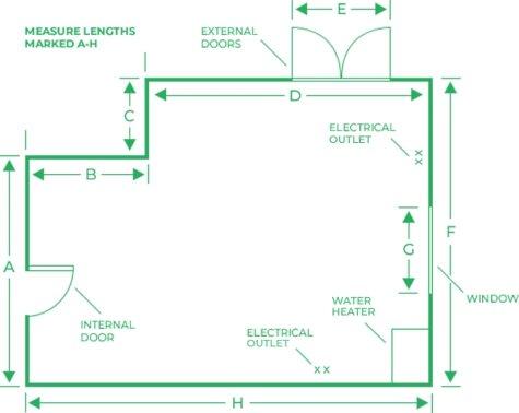 Diagram 1 - the floor plan